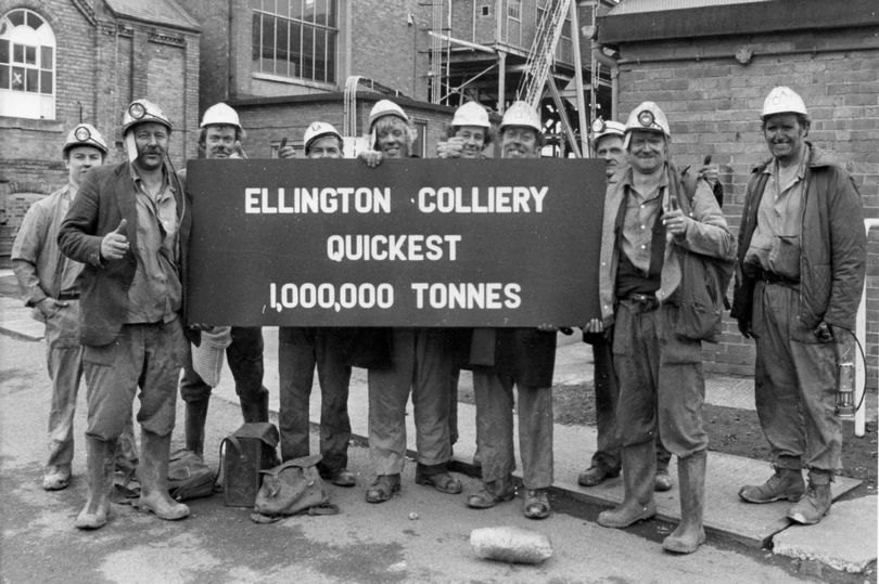 Miners at Ellington Colliery